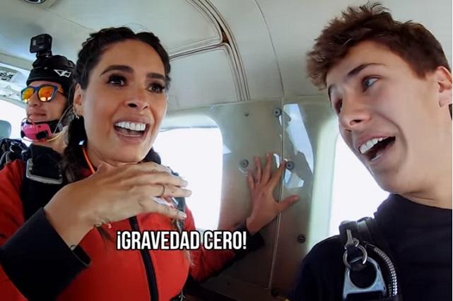 Así se lanzó Galilea Montijo de avión en paracaídas, al final se desmayó