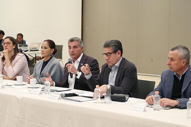 Sostiene Gali reunión con gabinete por cierre de año en Puebla