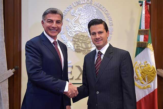 El presidente Peña Nieto recibe al gobernador José Antonio Gali