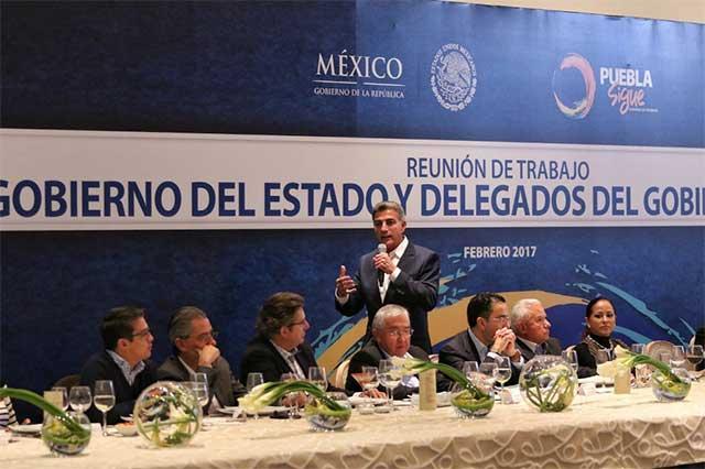 Establece José Antonio Gali agenda coordinada con delegados federales