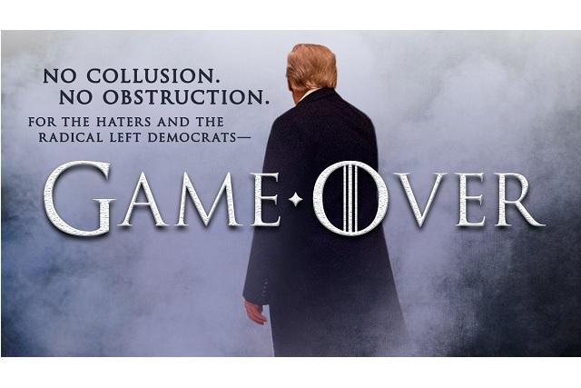 Con imagen de Game of Thrones, Trump se burla de informe sobre trama rusa