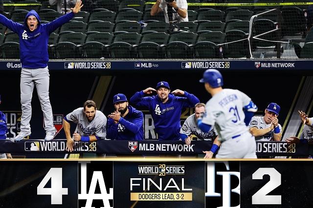Dodgers se lleva el juego 5; están a un triunfo de ganar la Serie Mundial