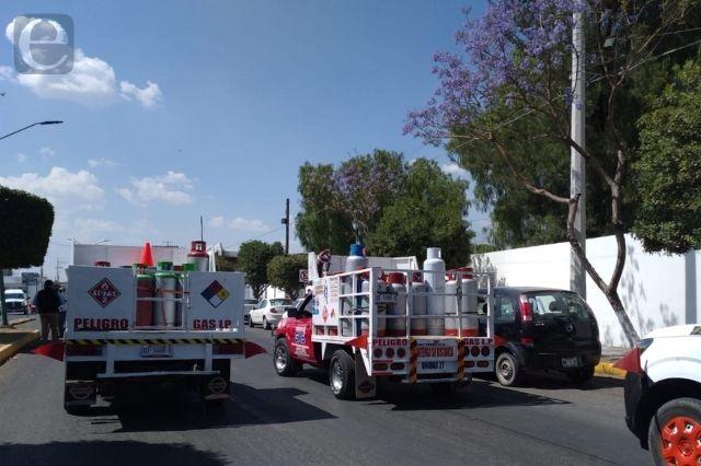 Repartidores de gas en Tehuacán se unieron al paro nacional
