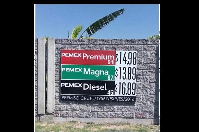 Llega a 13. 89 el precio de la gasolina en Izúcar de Matamoros