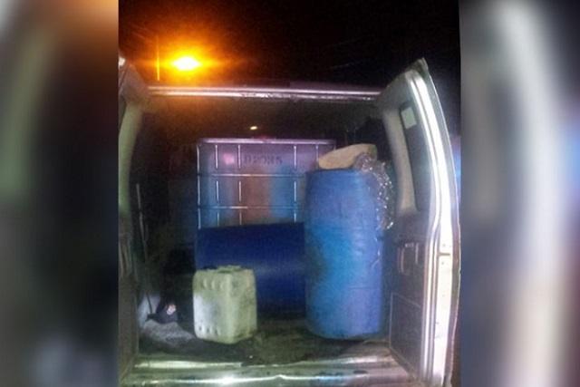 Capturan a Huachicolero con mil 200 litros de gasolina robada