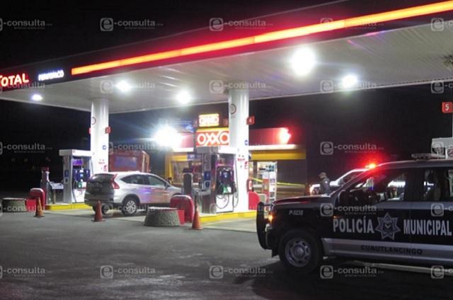 Hieren a empleados en asalto a gasolinera de Cuautlancingo