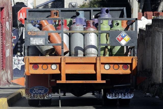 Gaseros en Atlixco aceptan los nuevos precios de venta