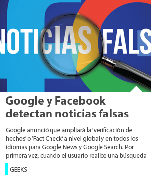 Google y Facebook detectan noticias falsas