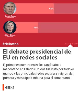El debate presidencial de EU en redes sociales
