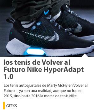 Nike HyperAdapt 1.0 los tenis de Volver al Futuro