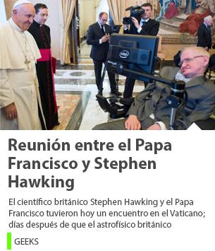Reunión entre el Papa Francisco y Stephen Hawking