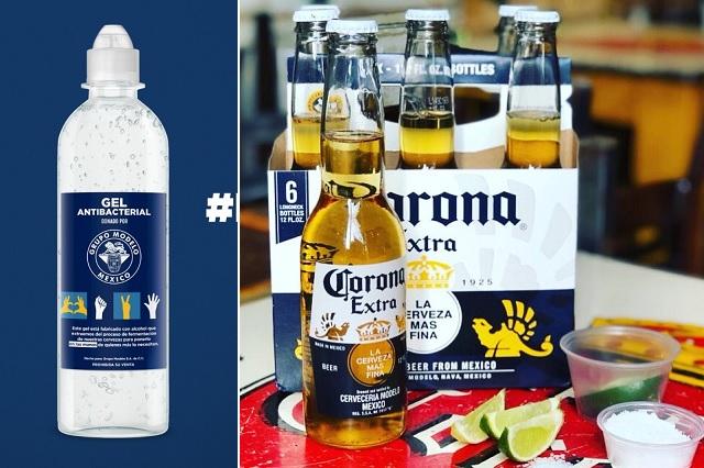 Grupo Modelo donará 300 mil botellas de gel con alcohol extraído de Corona Cero