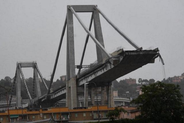 Graban derrumbe de puente vehicular que mató a 22 personas en Génova