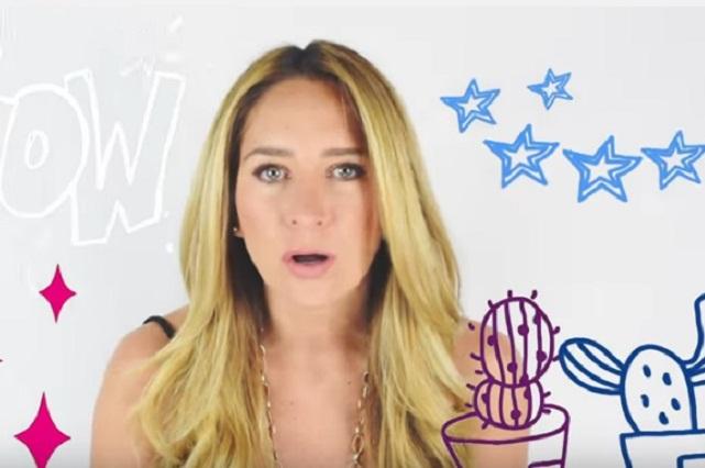 Geraldine Bazán debuta como youtuber con video