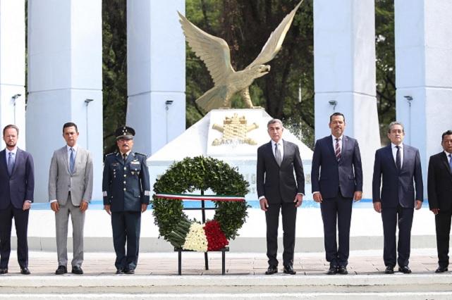 Autoridades conmemoran gesta de los Niños Héroes de Chapultepec