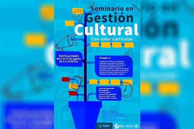 Secretaría de Cultura, BUAP y CCU abren seminario en gestión cultural
