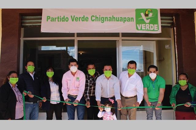 Partido Verde abre Casa de Gestión en Chignahuapan