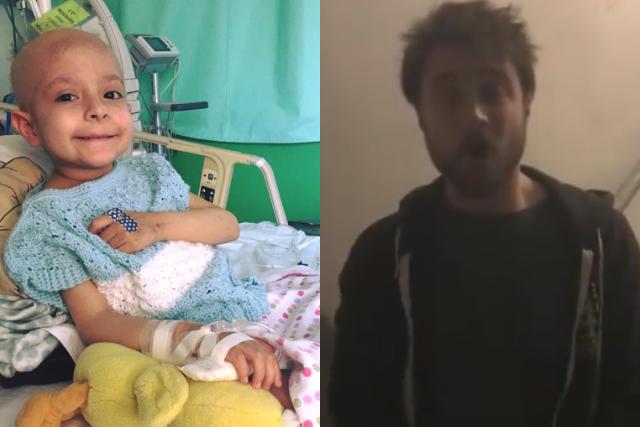 Harry Potter cumple el sueño de Gigi, una pequeña con cáncer terminal