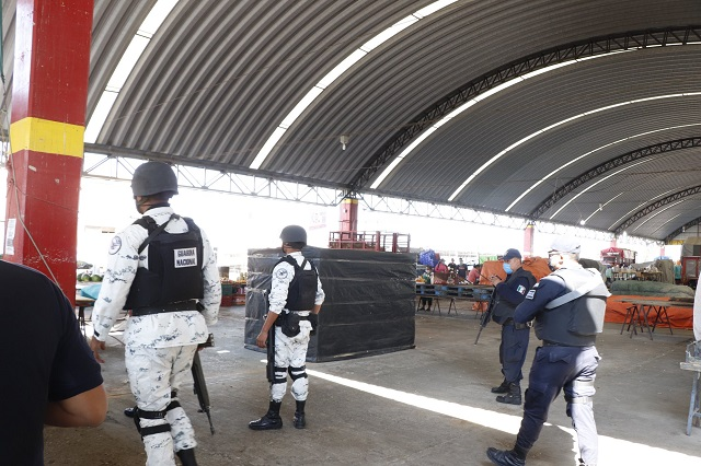 Guardia Nacional supervisa medidas sanitarias en Izúcar