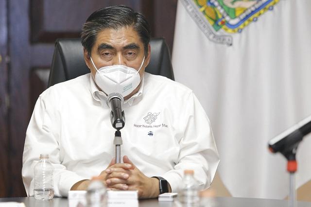 Modificará Barbosa plan de reactivación por Covid en Puebla