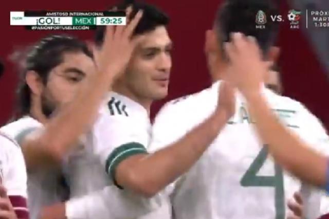 Raúl Jiménez se redime y anota de penal ante Holanda