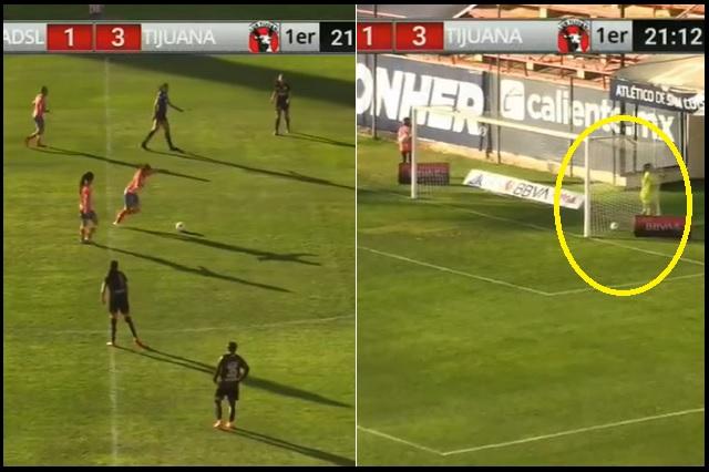 Atlético San Luis Femenil sorprende a Xolas con gol desde media cancha