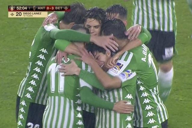 ¡Se lució! Mira el golazo de Diego Lainez en Copa del Rey