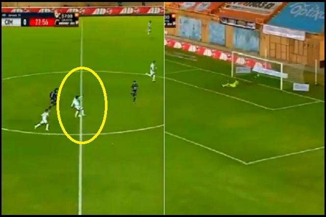 Franco Arizala logra un golazo de media cancha en Liga de Expansión