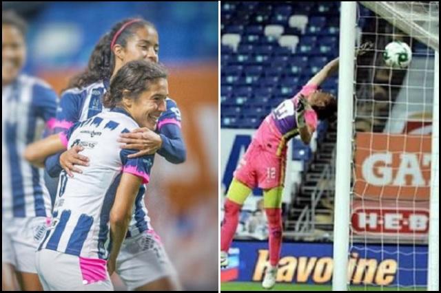 Mónica Flores sorprende con golazo de tres cuartos de cancha en Liga MX Femenil
