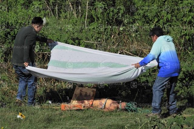 Golpeado y con soga al cuello hallan cadáver en Cuautlancingo