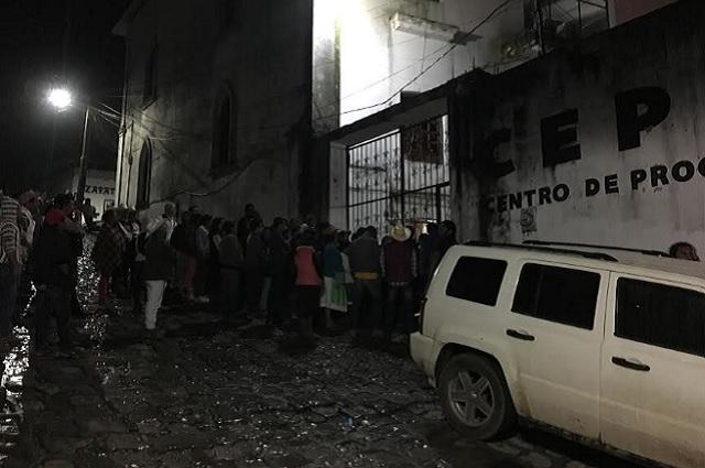 Exigen en Cuetzalan castigo a dos golpeadores que atacan a comunidad