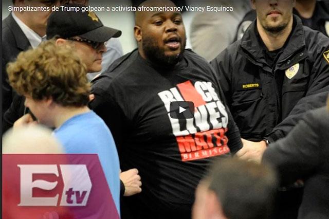 Trump justifica paliza que le dieron sus simpatizantes a un activista negro