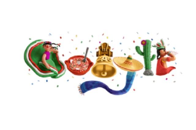 Google celebra Independencia de México con festivo doodle