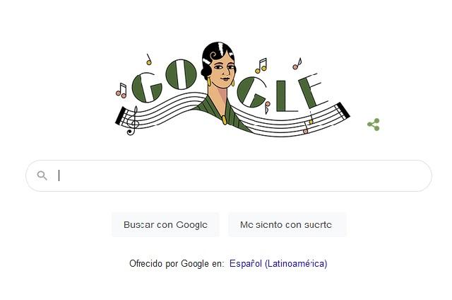 Google rinde homenaje con Doodle a compositora mexicana María Grever