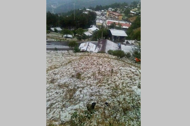 Registran daños en comunidades de la Sierra Negra por granizo