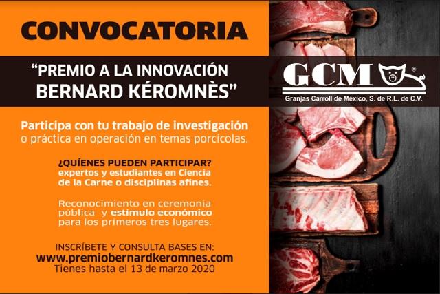 """Invita Granjas Carroll a participar en """"Premio a la Innovación Bernard Kéromnès"""""""