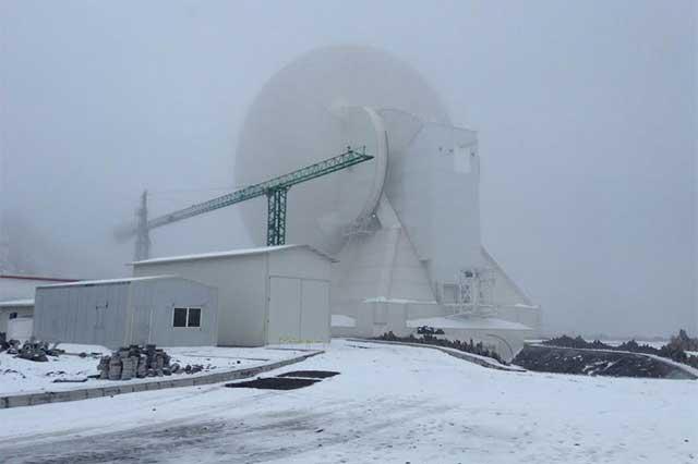 Proyecta INAOE completar antena de 50 mts del GTM en 2017