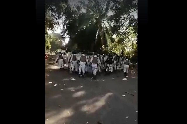 Guardia Nacional contuvo a golpes a migrantes, según reporte