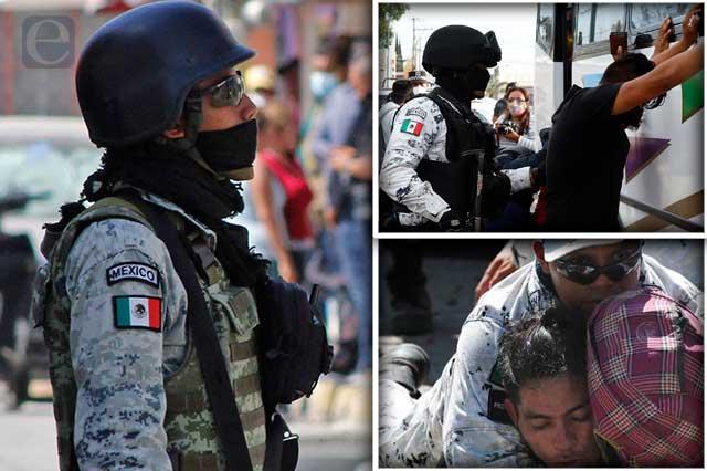 Guardia Nacional viola derechos humanos en Puebla