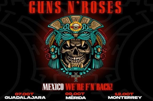 Informan que boletos para ver Guns N' Roses alcanzan los 11 mil pesos