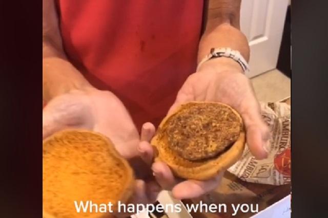 Revelan por qué se conservó hamburguesa de McDonald's 24 años