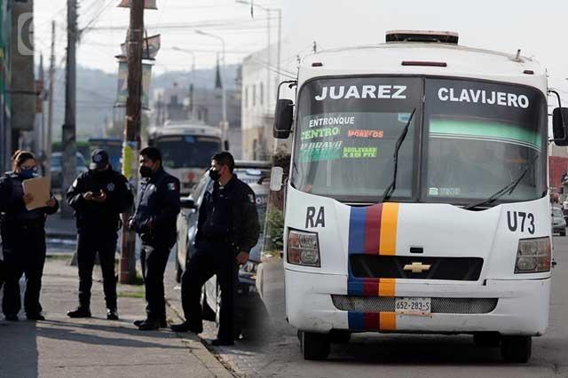 Un minuto basta para asaltar en el transporte público de Puebla