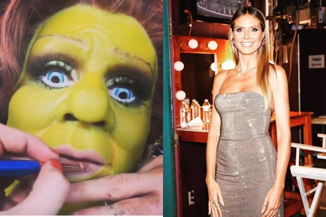 Heidi Klum sorprende con su disfraz de Fiona