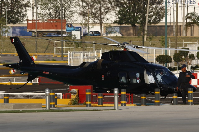 Bajo doble candado informes de vuelos de helicópteros poblanos