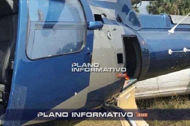 Balean helicóptero en el que viajaba titular de Seguridad Pública de SLP