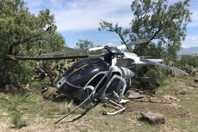 Se accidenta helicóptero de la Fuerza Aérea en Edomex