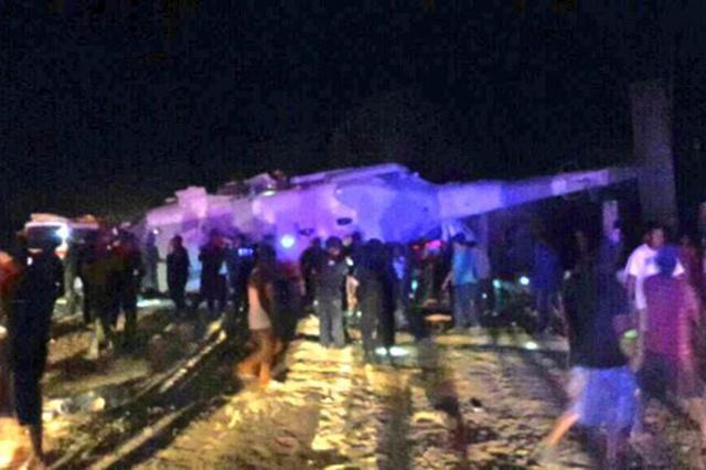 Captan el momento en que se desplomó el helicóptero militar en Oaxaca