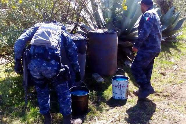 Asegura Policía Federal 900 litros de hidrocarburo robado
