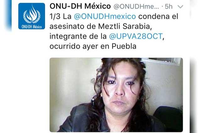 Organismos internacionales condenan ejecución de Meztli Sarabia