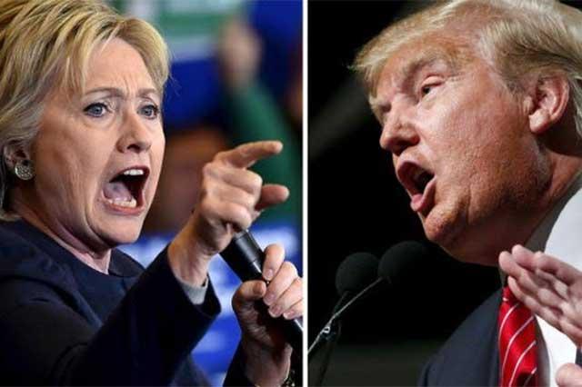 Por primera vez, Clinton y Trump se verán hoy cara a cara durante el debate